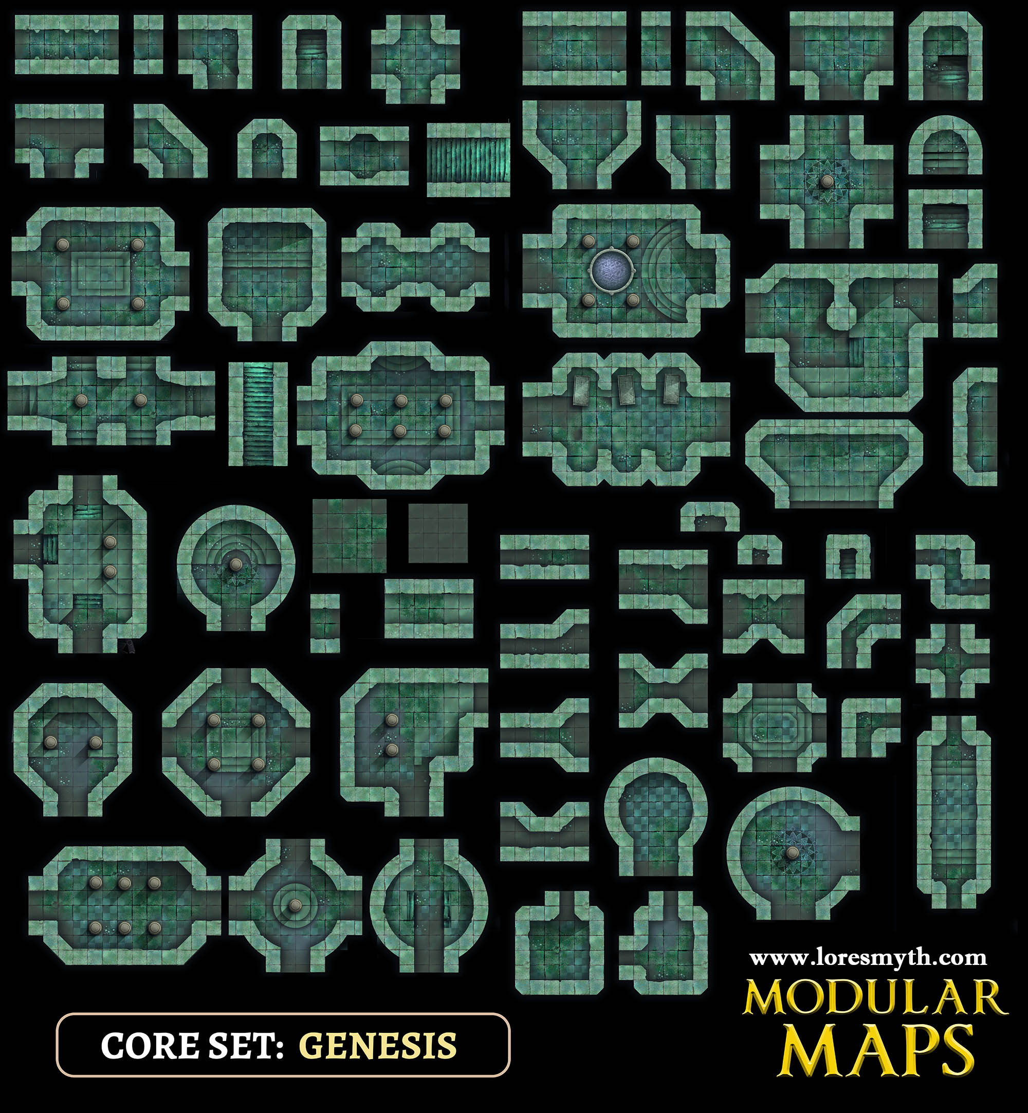 genesis foundations modular dungeon tiles for vtt nord games