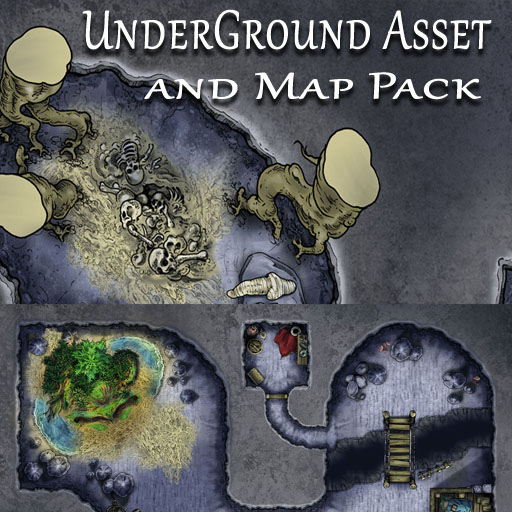 Underground Grotto D/&D Map